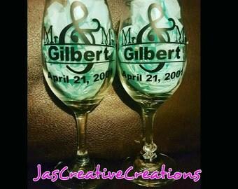 Anniversary/Wedding Gifts  (Wineglasses)