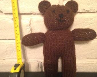 "Knitted Teddy Bear (6""-12"")"
