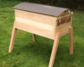 Horizontal Langstroth BeeHive - Cedar and Stainless - Made to Order
