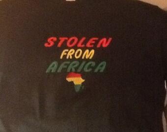 Stolen From Africa T Shirt Black