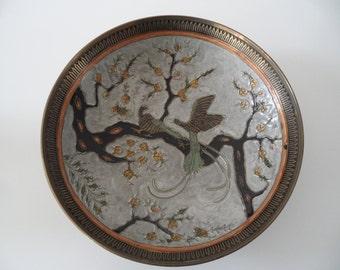 Scala handmade brass bowl,brass plate,deco brass bowl,brass bowl,collectors bowl,deco bowl,deco plate,old brass ware