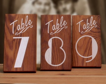 Rustic Wedding Table, Table Numbers, Table Markers