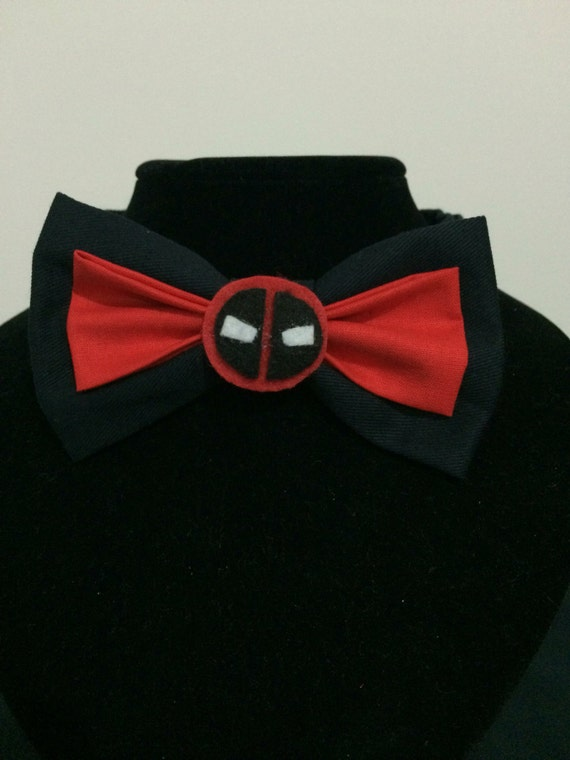 deadpool inspired bow tie