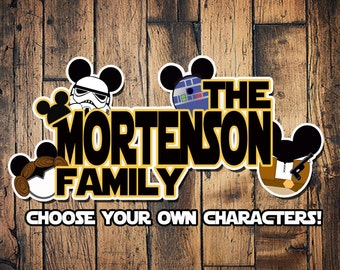 Custom Disney Cruise Mickey Magnets STAR WARS THEME family star wars magnet boat cabin door mouse
