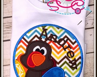 Personalized Boy Framed Turkey Shirt/Bodysuit