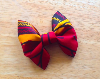 Red Kente Bow