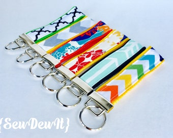 """Key Fob Wristlet Keychains 1.25""""- Choose Your Own Design! Many Styles to Choose from!"""
