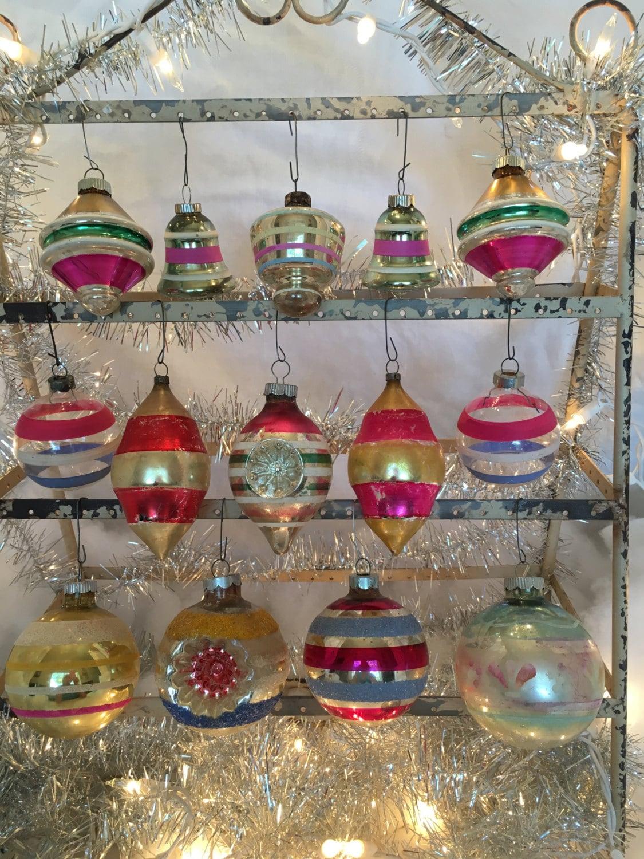 True Vintage Mercury Glass Christmas Ornament