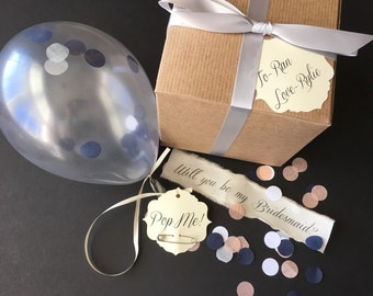 Silver - Will you be my bridesmaid? Pop the balloon to reveal your message