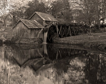 """Mabry Mill, Virginia: 7""""x10"""" archival print signed and matted in 11""""x14"""" matte (larger sizes available)"""