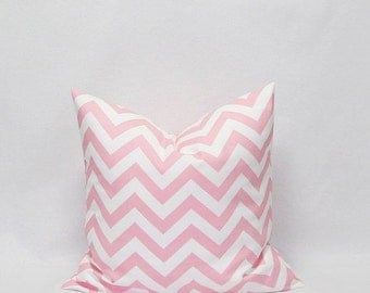 SALE Pink Pillows 18 x 18 Pink chevron pillows Pink and White Zig Zag pillow Decorative Pillow Covers Pink Cushion Covers