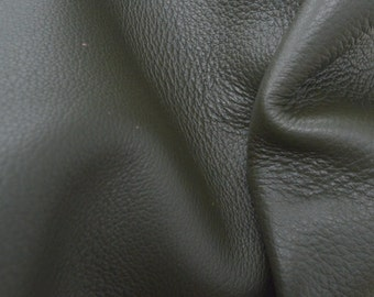 "Muddled Basil Leather New Zealand Deer Hide 12"" x 12"" Pre-cut 3-4 ounces JA-42139 (Sec. 6,Shelf 4,B)"