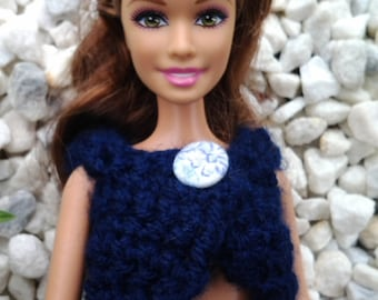 Handmade cardigan - clothes for your Barbie doll