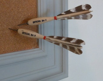 Vintage Feather and Wood Dart