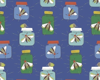 Mason jar fabric - Windham Fabrics cotton fabric - Bug Jars