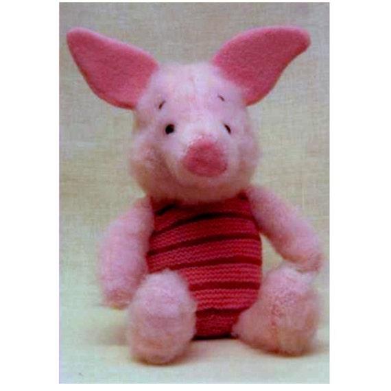 INSTANT DOWNLOAD PDF Vintage Knitting Pattern Piglet from