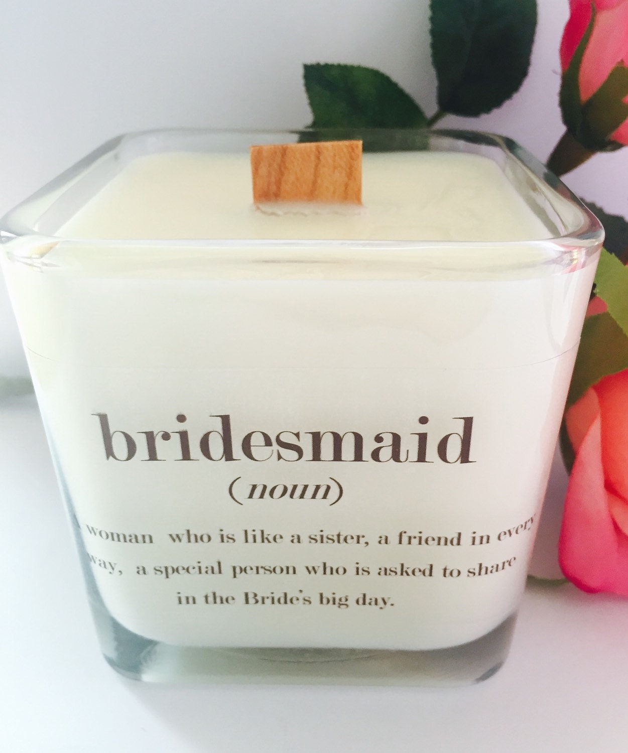 New Bridesmaid Soy Candle 12 Oz Jar Bridesmaid By