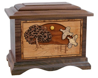 Walnut Quail Ambassador Wood Cremation Urn