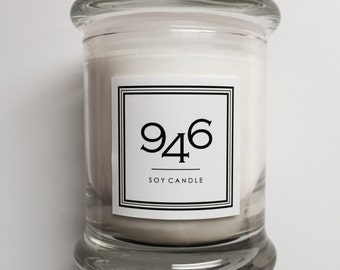 946 Soy Candles in Jasmine Soy Wax Candles Jasmine Hand Poured Lead-Free Wicks
