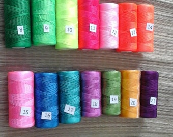 Couleur en Nylon 1mm en macramé fil, ensemble bobine, 27 couleurs / cordon