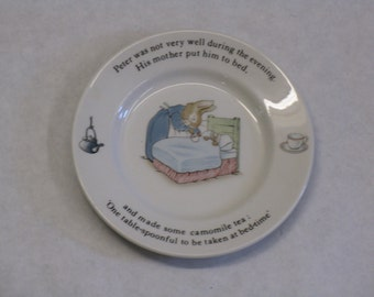 Wedgwood Peter Rabbit plate dish made in England