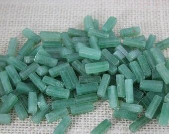 13mm Genuine Jade  Rectangle Tube Beads (20 Pieces)
