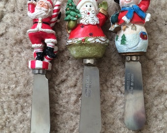 Christmas cheese spreaders