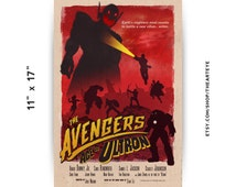 "11""x17"" Avengers Age of Ultron // Vintage Style // Retro Comic Book // Marvel Avengers Poster"