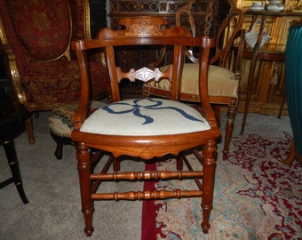 EASTLAKE NEEDLEPOINT CHAIR