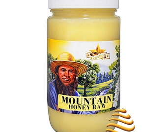 Amish Mountain Raw Unfiltered Kosher  Honey 1Lb
