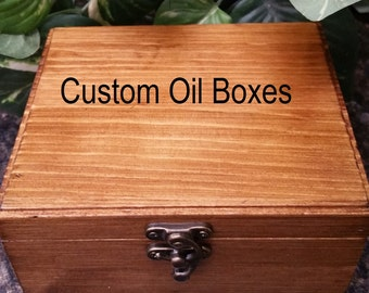 Custom Order Large Wooden Box,Essential Oil Box, Essential Oil Safe, Essential Oil Storage, Stained Oil Wooden Box