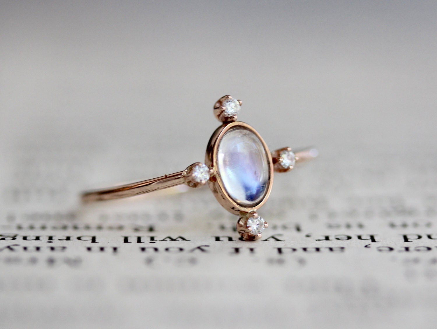 moonstone rings with stars - photo #23