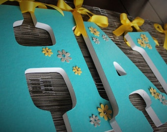 Teal Blue, Sunny Yellow and Gray Custom Wooden Letters, Nursery Name Decor, Hanging Wood Wall Dec