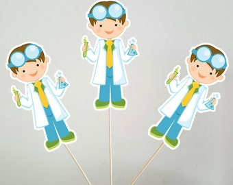 Science Boy Centerpieces, Mad Scientist Boy Centerpieces