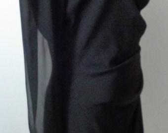 Vintage Elegant Suit Dress Sheer Sleeves Rhinestone Buttons Formal Classy PATRA BRAND stunning black formal suit dress classy dress patra