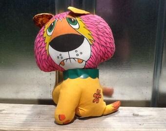 1970s Mod Style Lion Plush