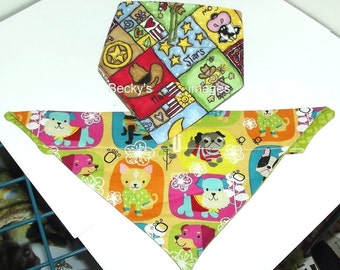 Puppy Bows~2 over the collar dog pet bandana cowgirl small ~US Seller