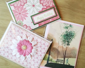 3 Card Bundle - Birthday Card, Blank Greeting Cards