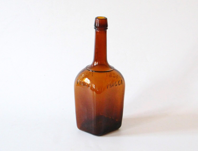 Grote vintage maggi fles keuken decor van horsesforcourses op etsy
