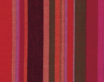 ROMAN STRIPE Woven  BLOOD wromanx.blood by Kaffe Fassett fabric sold in 1/2 yard increments