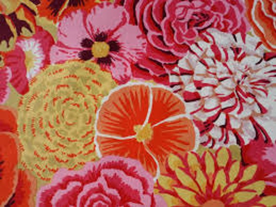 BEKAH ORANGE GP69 Kaffe Fassett fabric Sold in 1/2 yd increments