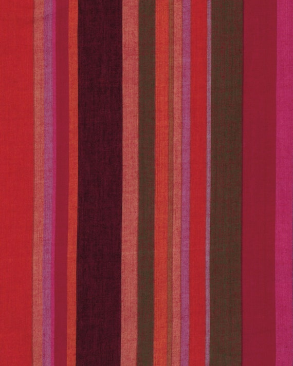 ROMAN STRIPE Woven  BLOOD wromanx.blood by Kaffe Fassett fabric sold in 1/2 yard increments