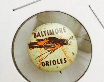 1950s Vintage Baltimore Orioles Baseball Pin Pinback