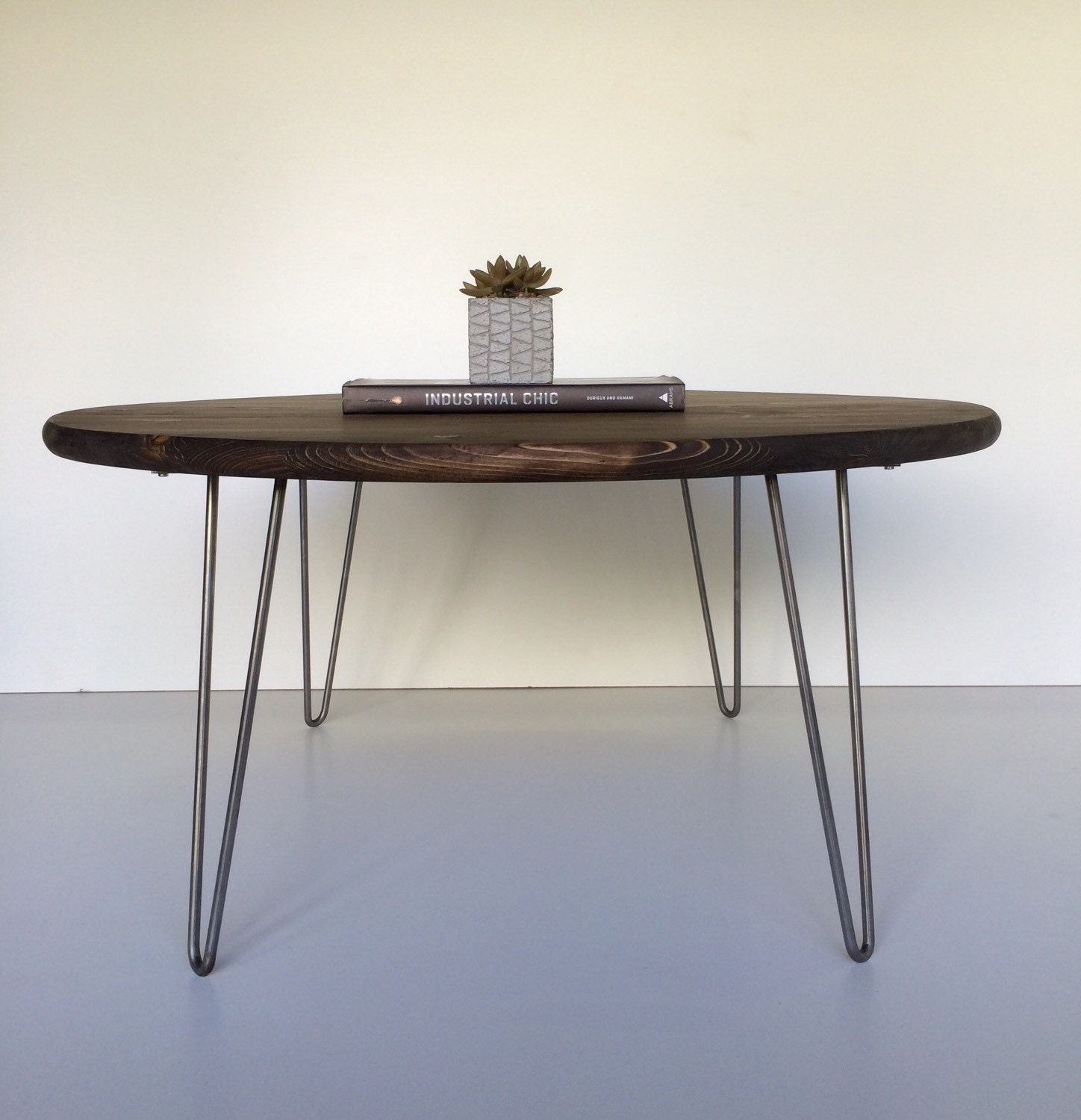 Industrial Chic Coffee Table: 30 Round Industrial Chic Modern Coffee Table By GroveAndAnchor