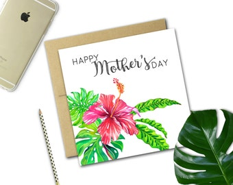 Mother's Day Card {HIBISCUS}