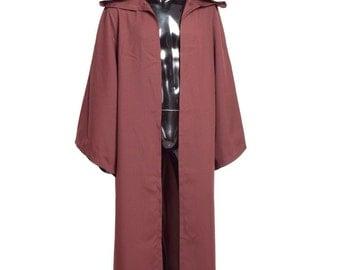 Brown Star Wars Jedi Robe Cloak UK Sizes S/M/L/XL/2XL