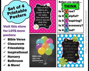 Teacher Classroom Decor, Classroom Decoration, Back to School, Decorations, Classroom Signs, Printable Posters, Motivational Quotes