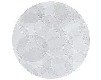 Sequin Crystal Clear Round 1.5 inch Couture Loose Paillettes Discs.  Made in USA