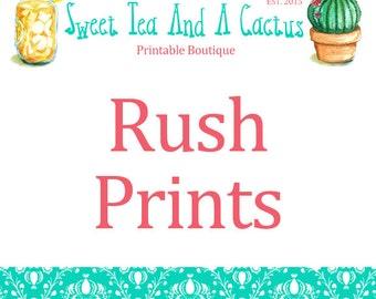 Rush Your Print Order