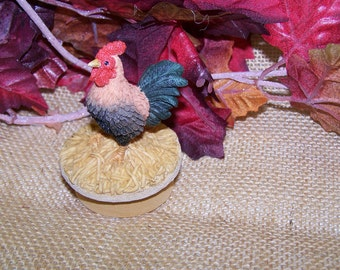 ROOSTER FIGURINE-  new